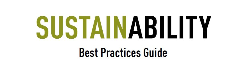 sustainability best practice guide